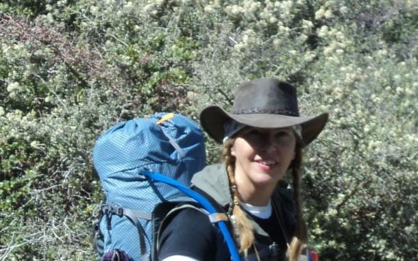 Sue hiking closeup