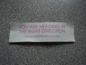 Fortune Cookie Wisdom No. 1: The Panda Speaks, and IListen