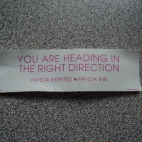 Fortune Cookie Wisdom No. 1: The Panda Speaks, and I Listen